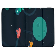 Space Illustration Irrational Race Galaxy Planet Blue Sky Star Ufo Samsung Galaxy Tab 7  P1000 Flip Case