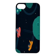 Space Illustration Irrational Race Galaxy Planet Blue Sky Star Ufo Apple Iphone 5s/ Se Hardshell Case