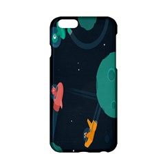 Space Illustration Irrational Race Galaxy Planet Blue Sky Star Ufo Apple Iphone 6/6s Hardshell Case by Alisyart