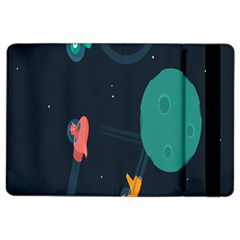Space Illustration Irrational Race Galaxy Planet Blue Sky Star Ufo Ipad Air 2 Flip