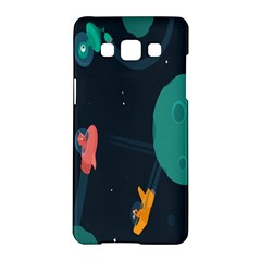 Space Illustration Irrational Race Galaxy Planet Blue Sky Star Ufo Samsung Galaxy A5 Hardshell Case
