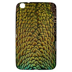 Peacock Bird Feather Gold Blue Brown Samsung Galaxy Tab 3 (8 ) T3100 Hardshell Case