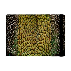Peacock Bird Feather Gold Blue Brown Ipad Mini 2 Flip Cases