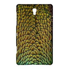 Peacock Bird Feather Gold Blue Brown Samsung Galaxy Tab S (8 4 ) Hardshell Case  by Alisyart