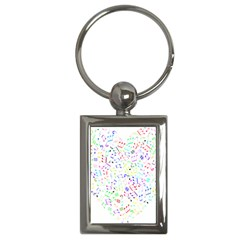 Prismatic Musical Heart Love Notes Rainbow Key Chains (rectangle)