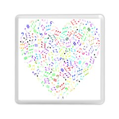 Prismatic Musical Heart Love Notes Rainbow Memory Card Reader (square)  by Alisyart