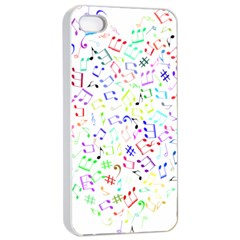 Prismatic Musical Heart Love Notes Rainbow Apple Iphone 4/4s Seamless Case (white)