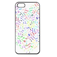 Prismatic Musical Heart Love Notes Rainbow Apple Iphone 5 Seamless Case (black)