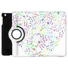 Prismatic Musical Heart Love Notes Rainbow Apple Ipad Mini Flip 360 Case by Alisyart
