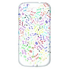 Prismatic Musical Heart Love Notes Rainbow Samsung Galaxy S3 S Iii Classic Hardshell Back Case
