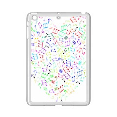Prismatic Musical Heart Love Notes Rainbow Ipad Mini 2 Enamel Coated Cases
