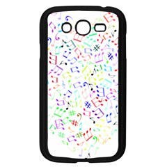 Prismatic Musical Heart Love Notes Rainbow Samsung Galaxy Grand Duos I9082 Case (black)