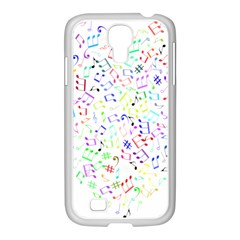 Prismatic Musical Heart Love Notes Rainbow Samsung Galaxy S4 I9500/ I9505 Case (white)