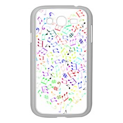 Prismatic Musical Heart Love Notes Rainbow Samsung Galaxy Grand Duos I9082 Case (white)