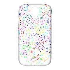 Prismatic Musical Heart Love Notes Rainbow Samsung Galaxy S4 Classic Hardshell Case (pc+silicone)