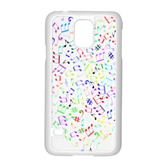 Prismatic Musical Heart Love Notes Rainbow Samsung Galaxy S5 Case (white)