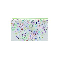 Prismatic Musical Heart Love Notes Rainbow Cosmetic Bag (xs)