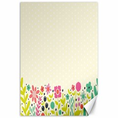 Spring Floral Flower Rose Tulip Leaf Flowering Color Canvas 12  X 18
