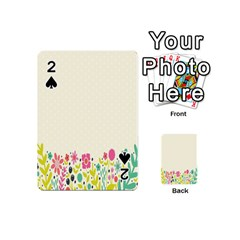 Spring Floral Flower Rose Tulip Leaf Flowering Color Playing Cards 54 (mini)  by Alisyart