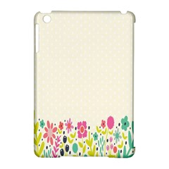 Spring Floral Flower Rose Tulip Leaf Flowering Color Apple Ipad Mini Hardshell Case (compatible With Smart Cover) by Alisyart