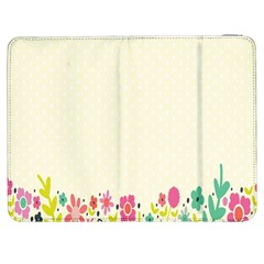 Spring Floral Flower Rose Tulip Leaf Flowering Color Samsung Galaxy Tab 7  P1000 Flip Case