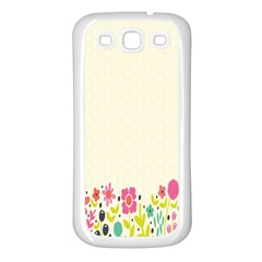 Spring Floral Flower Rose Tulip Leaf Flowering Color Samsung Galaxy S3 Back Case (white) by Alisyart