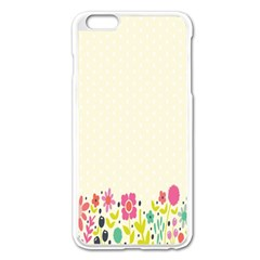 Spring Floral Flower Rose Tulip Leaf Flowering Color Apple Iphone 6 Plus/6s Plus Enamel White Case