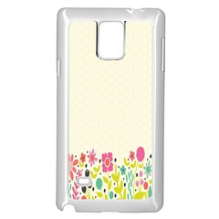Spring Floral Flower Rose Tulip Leaf Flowering Color Samsung Galaxy Note 4 Case (white)