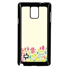 Spring Floral Flower Rose Tulip Leaf Flowering Color Samsung Galaxy Note 4 Case (black)