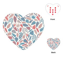 Spencer Leaf Floral Purple Pink Blue Rainbow Playing Cards (heart)