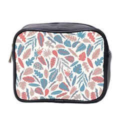 Spencer Leaf Floral Purple Pink Blue Rainbow Mini Toiletries Bag 2 Side