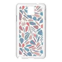 Spencer Leaf Floral Purple Pink Blue Rainbow Samsung Galaxy Note 3 N9005 Case (white) by Alisyart