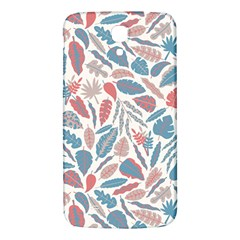 Spencer Leaf Floral Purple Pink Blue Rainbow Samsung Galaxy Mega I9200 Hardshell Back Case by Alisyart