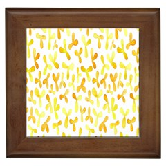 Springtime Yellow Helicopter Framed Tiles
