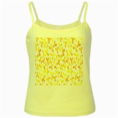 Springtime Yellow Helicopter Yellow Spaghetti Tank by Alisyart
