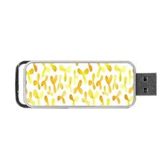 Springtime Yellow Helicopter Portable Usb Flash (one Side)