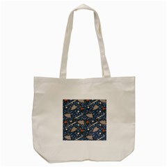 Spring Flower Floral Rose Rain Blue Grey Cloud Water Tote Bag (cream)
