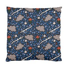 Spring Flower Floral Rose Rain Blue Grey Cloud Water Standard Cushion Case (one Side)