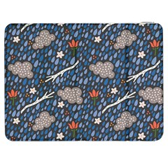 Spring Flower Floral Rose Rain Blue Grey Cloud Water Samsung Galaxy Tab 7  P1000 Flip Case