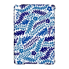 Spring Flower Leaf Blue Apple Ipad Mini Hardshell Case (compatible With Smart Cover)