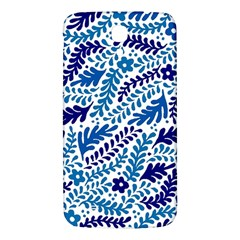 Spring Flower Leaf Blue Samsung Galaxy Mega I9200 Hardshell Back Case by Alisyart