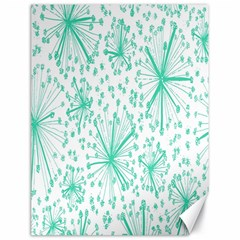 Spring Floral Green Flower Canvas 18  X 24   by Alisyart