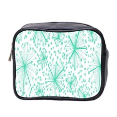 Spring Floral Green Flower Mini Toiletries Bag 2 Side