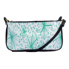 Spring Floral Green Flower Shoulder Clutch Bags