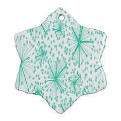 Spring Floral Green Flower Ornament (snowflake)