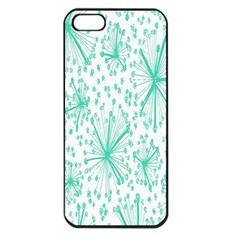 Spring Floral Green Flower Apple Iphone 5 Seamless Case (black)