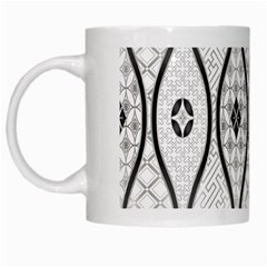 Public Domain Grey Star White Mugs