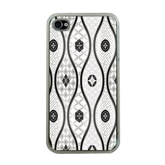 Public Domain Grey Star Apple Iphone 4 Case (clear)