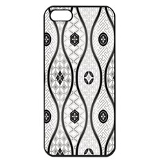 Public Domain Grey Star Apple Iphone 5 Seamless Case (black)