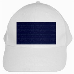Summers Night Wave Chevron Blue White Cap